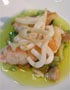 Prawns and Baby Squid in White Truffle Sauce